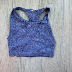 Alo Yoga Blue Crop Active Top